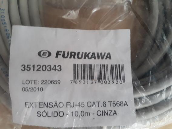 Cabo Rj45 Comunicação..cat-6...furukawa - 10 Metros