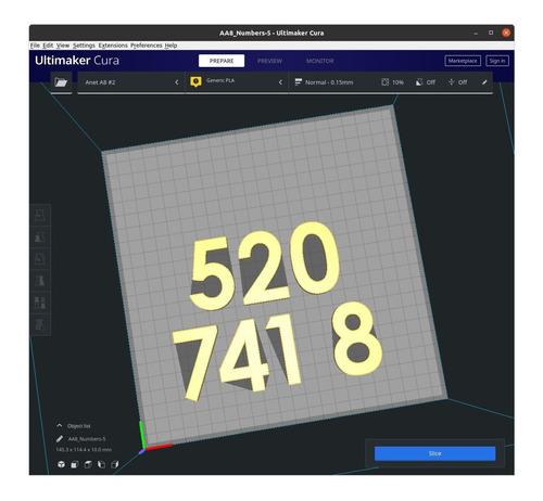 Imagem 1 de 3 de Número 520 741 8 Grabovoi Dinheiro Inesperado Impressão 3d