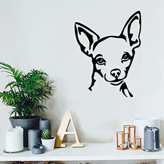 Hermoso Vinilo Decorativo Perro Chihuahua Orejas
