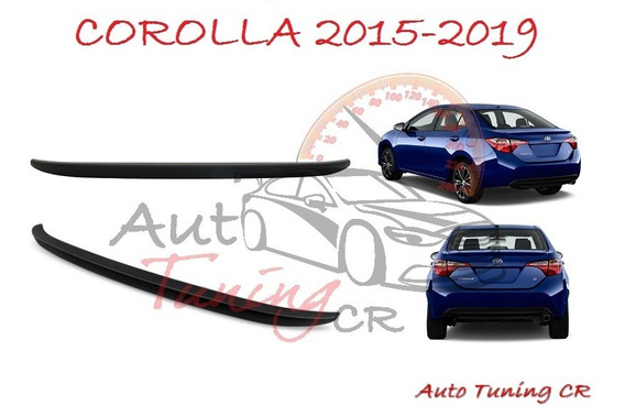 Coleta Spoiler Tapa Baul Toyota Corolla 2015-2019
