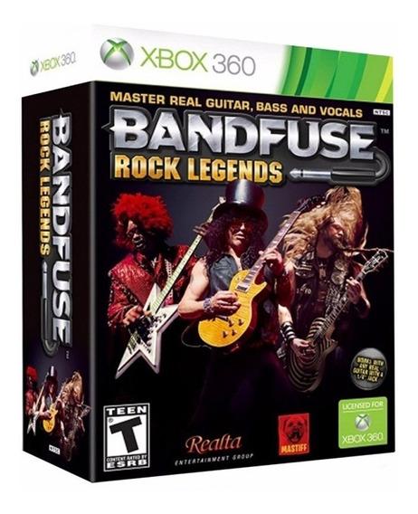 Bandfuse Rock Legends 1-4 Jogador Game Cabo Xbox 360 Lacrado