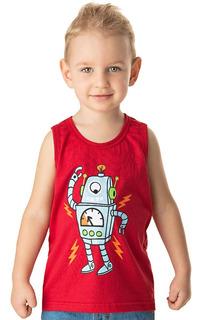 Roupa Bebê Menino Camiseta Regata Meia Malha Algodão Verão