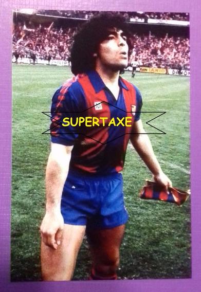 Foto 10 X 15 Fc Barcelona Diego Maradona 1982
