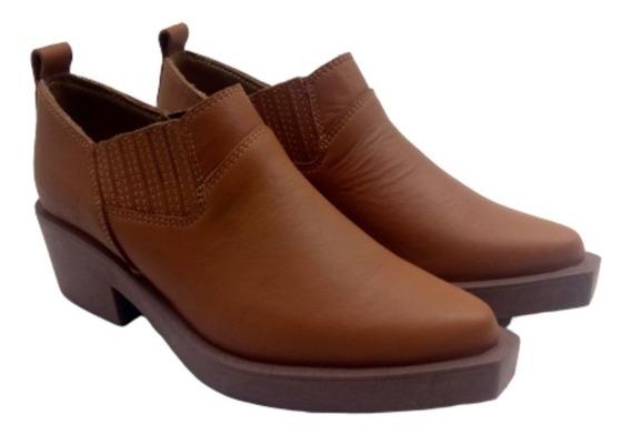 Zapatos Bota Botineta Texana Elastico Cuero Vacuno Savage