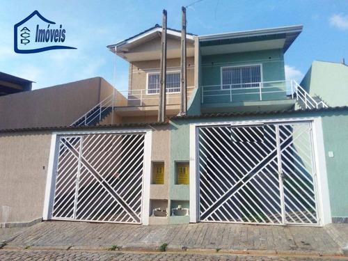 Sobrado Com 3 Dormitórios, 146 M² - Venda Por R$ 560.000,00 Ou Aluguel Por R$ 2.500,00/mês - Centro - Arujá/sp - So0102