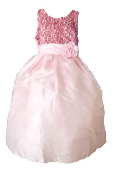 Vestido Para Niña Fiesta Graduacion Rosa Pastel 001
