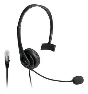 Fone Headset De Telemarketing Multilaser Ph251 Entrada Rj09