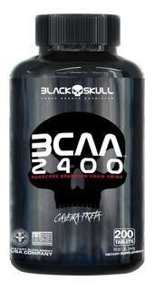 Bcaa 2400 Caveira Preta 200 Tabletes Black Skull