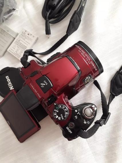 Camera Nikon Cool Pix P510 Semiprofissional Completa