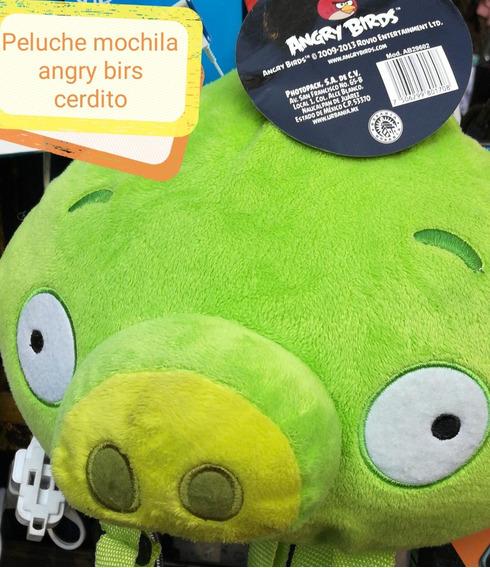 Mochila Angry Birds Cerdito Original