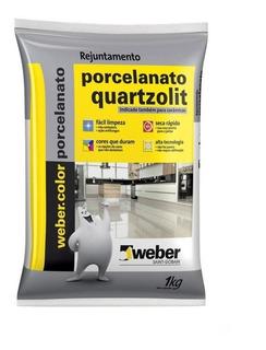 Rejunte P/ Porcelanato Branco Bege Cinza Café 1kg Quartzolit