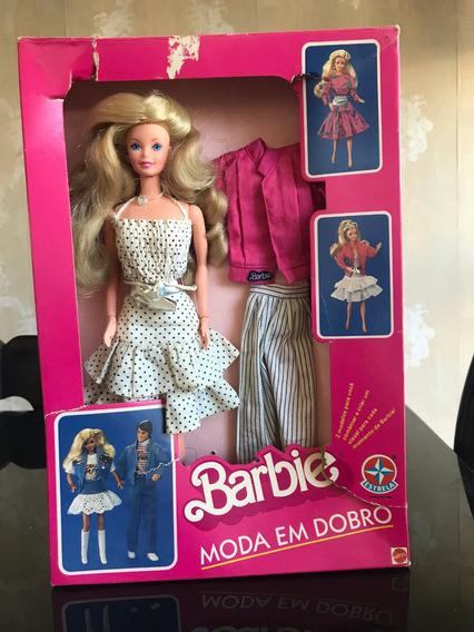 Barbie Antiga Estrela Moda Em Dobro 1989 Na Caixa
