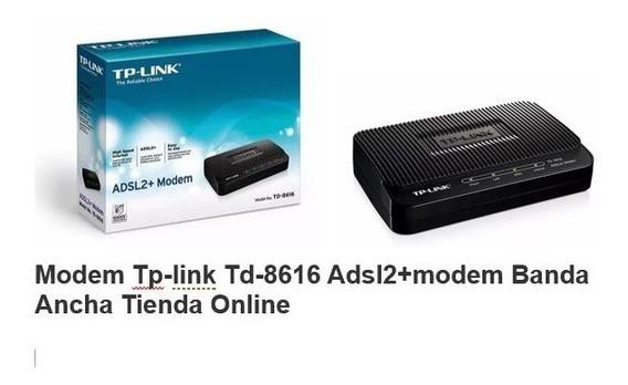 Modem Router Tp-link Adsl2/2 Td-8616 Aba Cantv