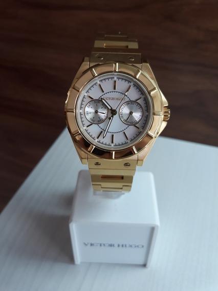 Relógio Victor Hugo Vh10052 + Garantia De 1 Ano + Nf
