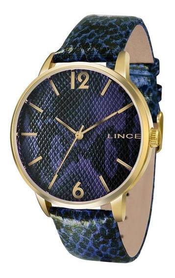 Relógio Lince Lrc605l D2dx Onça Azul Original
