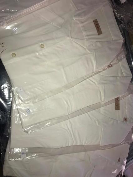 4 Camisas Blanca Lisa Mujer Oficina T40 2manga Corta Y 2 Ml