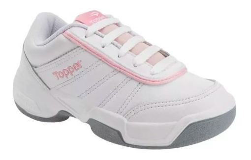 Zapatillas Topper Colegial Blanco Rosa Tie Break Kids