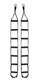 Par De Escada Suspensa Com Mosquetão 7 Degraus Funcional Top