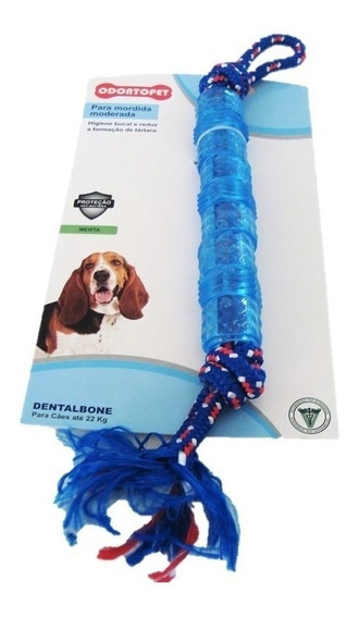 Mordedor Dentalbone Tubo Mord. Moderada Cachorro Até 22 Kg