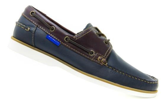 Zapato Comodos Caballero Quirelli 84901 Navy 100% Originales