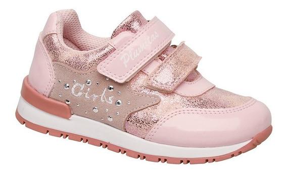 Zapatillas Plumitas Para Niña Girlpwr Rosa Metalizada