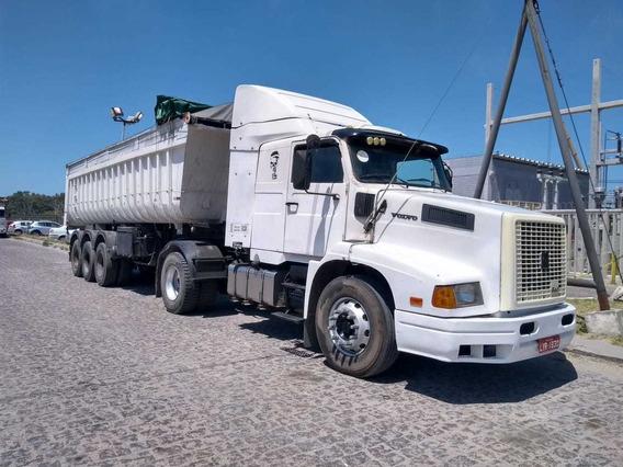 Conjunto Caminhão Caçamba, Caminhão Volvo 340 E Caçamba Basc