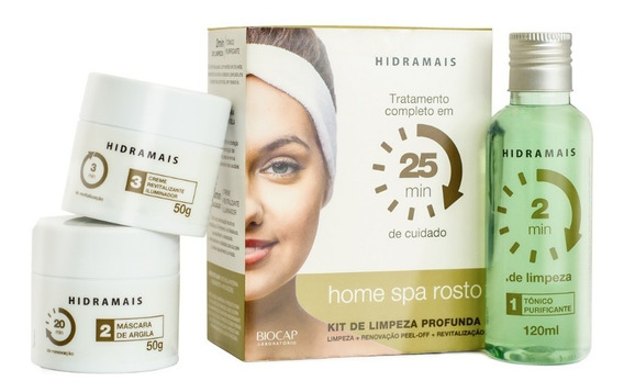 Kit Home Spa Facial Hidramais