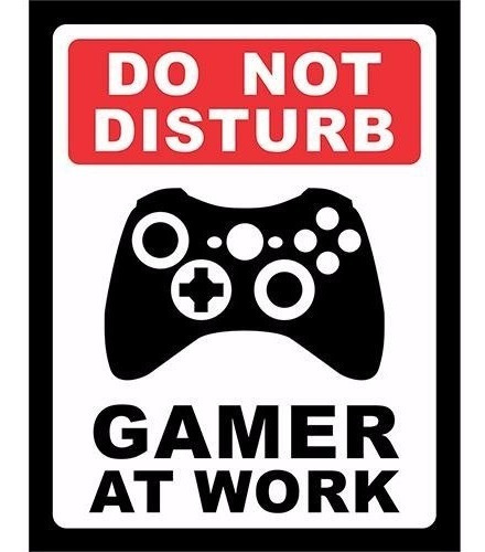 Placa Decorativa Do Not Disturb Gamer At Work Xbox