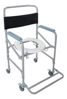 Cadeira De Banho Adulto Em Aço Dobravel 100 Kg D40 Dellamed