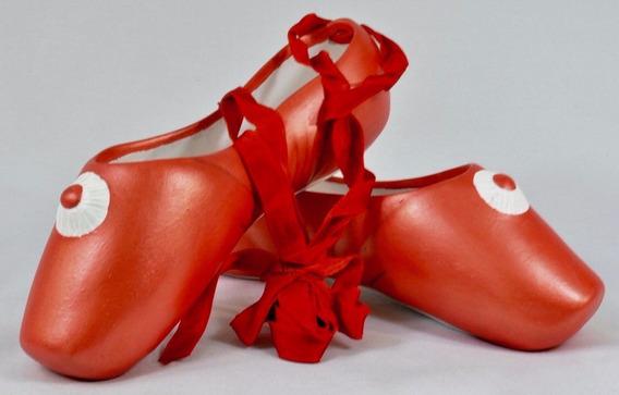 1710-03-110-01 Par Zapatillas Ballet Cerámica Alt 6 Long. 20