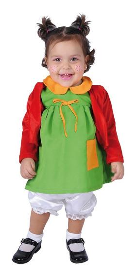 Disfraz De Chilindrina Bebé Carnavalito -d542