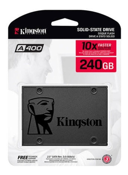 Ssd Kingston 240gb Ssdnow A400 Sata3 6gb/s 500mb/s Sem Juros