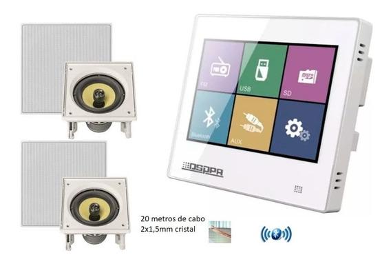 Kit Som Ambiente Amplificador De Parede Dm 837 + 2 Jbl Ci6s +20 Metros De Cabo Consultório Banheiro