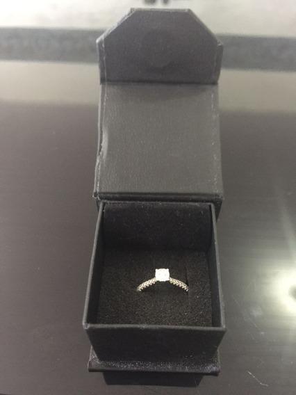 Anel Solitário 31 Pontos Diamante! Ouro Branco! Espetacular!
