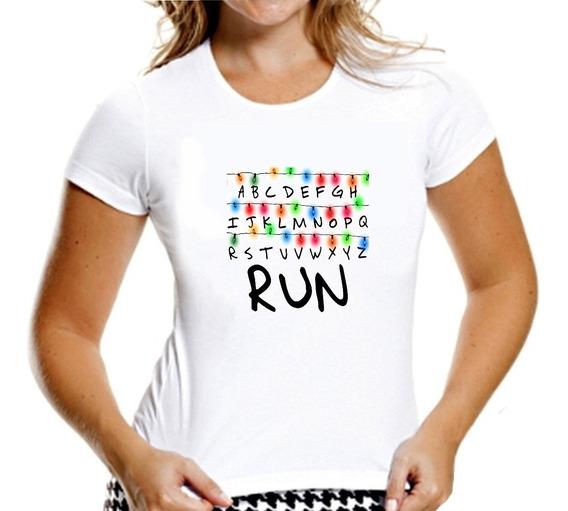 Camisa Stranger Things Alfabeto Abcd Run