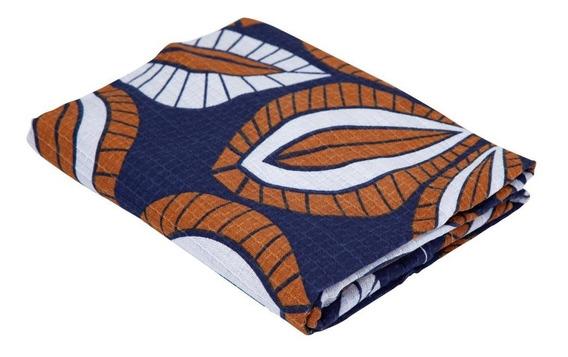 Porta Travesseiro Com Abas Teka Azul Escuro Gaia 50x70cm