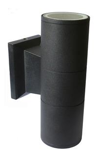 Aplique Bidireccional Exterior Gu10 Moly Ii Negro Aluminio