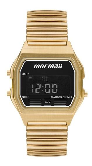 Relógio Mormaii Feminino Vintage Mojh02au/4d Dourado Digital
