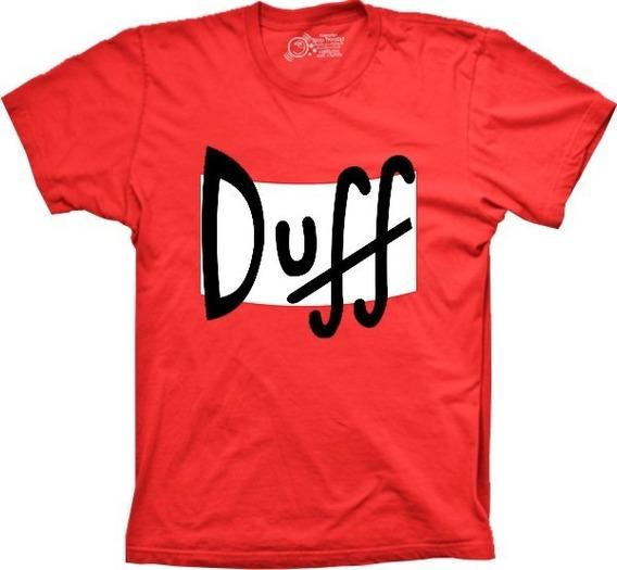 Camiseta Plus Size Duff Simpsons 100% Algodão Premium