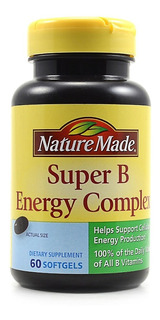 Nature Made Super B Energy Complex 60 Softgels