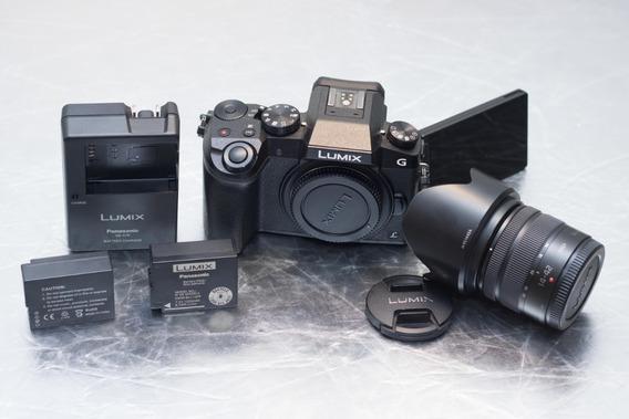 Panasonic Lumix Dmc-g7 4k Lente 14-42mm, Uv, Baterias E Case