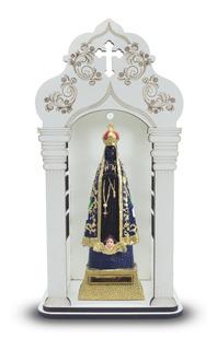Capela 34 Cm Com Imagem De Nossa Senhora Aparecida Inquebráv