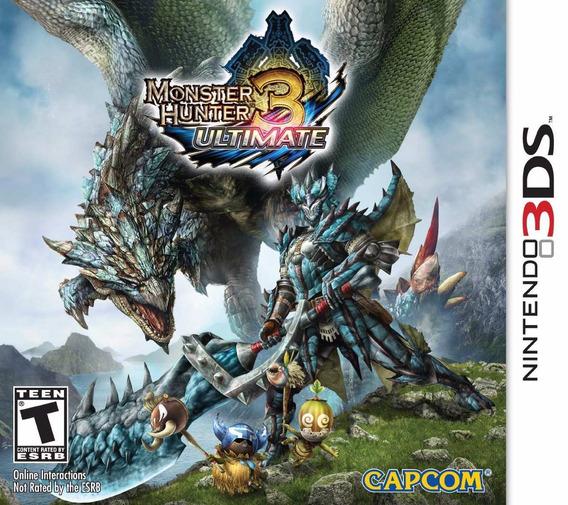 Jogo Lacrado Novo Monster Hunter 3 Ultimate Pra Nintendo 3ds