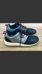 Tenis Nike Original Couro Azul Unissex Confiavel Tamanho 38