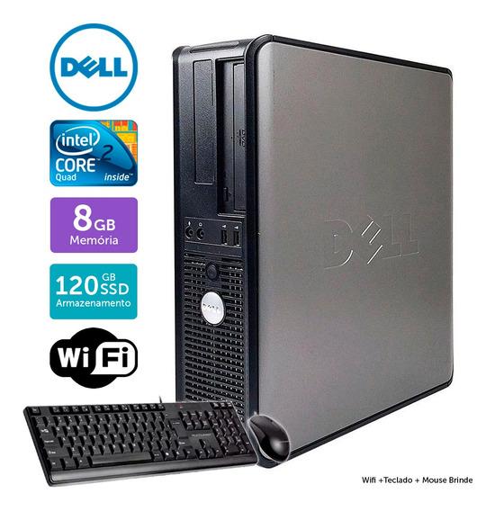 Cpu Usado Dell Optiplex 780int C2quad 8gb Ssd120 Brinde