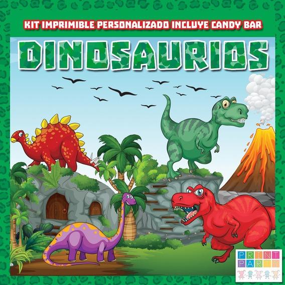 Dinosaurios Infantiles Kit Imprimible Personalizado Candybar