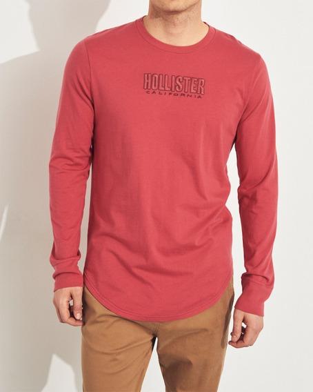 Camiseta Masculina Hollister Blusa Frio Casaco Agasalho Polo