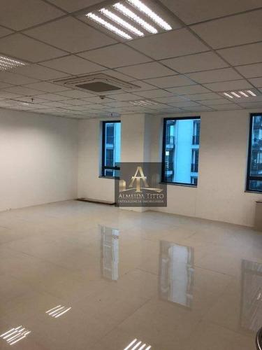 Excelente Sala Comercial Para Locação No Edifício Complexo Madeira Alphaville - Confira! - Sa0453