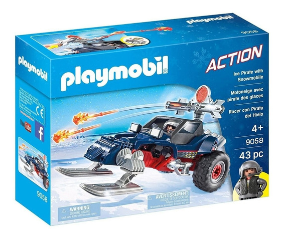 Playmobil Piratas Do Gelo Com Moto 9058 Sunny