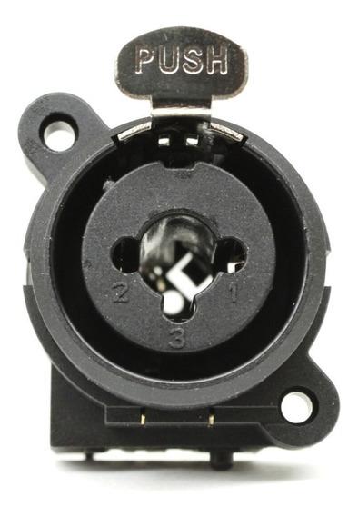 Kit 10 Conectores Plug Combo Xlr Fêmea P10 Painel Solda Acjc6s/n